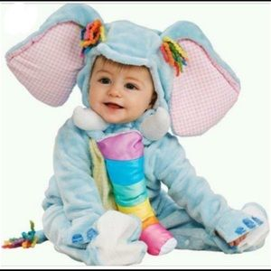 Rubies elephant Halloween costume with hood 0-6m
